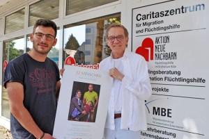 Mohammed Isso und Thomas Schönwälder machten gemeinsam die Bilder für die Ausstellung. Bild: Carsten Düppengießer / Caritas Euskirchen