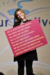 Nicole Staudinger überzeugte ihr Publikum in Gerolstein. Bild: Harald Tittel/ELF