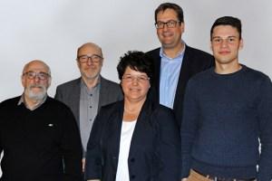 Der neue Vorstand der Schleidener FDP: Wolf-Rüdiger Berres (v.l.), Rolf Hörnchen, Angelika Wallraf, Markus Herbrand und Jan Griskewitz. Bild: FDP Schleiden