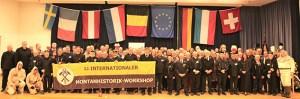 Die Veranstaltung führte Menschen aus acht europäischen Ländern zusammen. Hier das Abschlussbild mit den Teilnehmern in der Karolingerhalle in Prüm. Foto: Hans Kretschmer, Freiberg