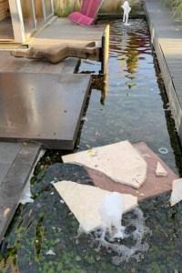 """Im Bereich der Ausstellungsbeiträge des """"Rheinischen Zentrums für Gartenkultur"""" im Seepark Zülpich haben in der Nacht zu Sonntag (24.11.) bislang unbekannte Personen gewütet.   Foto: Seepark Zülpich"""