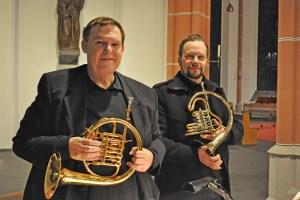Jürgen Schuster (links) und Daniel Ackermann glänzten auf ihren Hörnern. Bild: Carsten Düppengießer