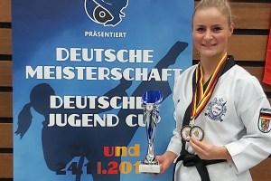 Medaillen- und Titelregen für Jessica Rau vom Taekwondo Club Schleiden: Seit Jahren zeigt die Athletin Spitzenleistungen in nationalen und internationalen Turnieren. Foto: privat