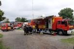 Mit Hilfe des in Kall stationierten Einsatzleitwagens II wurde die Koordinierungsstelle in den hoch gelegenen Bereich am Ostlandkreuz verlegt. Foto: Reiner Züll