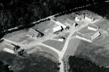 So sah das LVR-Freilichtmuseum 1961 aus der Luft betrachtet aus. Bild: LVR