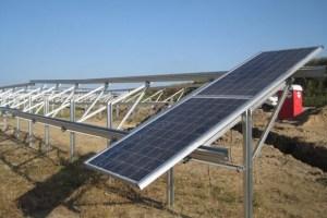 """Der Solarpark Krassow ist eine von mehreren Photovoltaik-Freilandanlagen, die """"F&S solar"""" gerade in Mecklenburg-Vorpommern baut. Bild: F&S solar"""