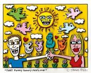 """""""That funny sunny feeling"""" war Rizzis letztes Werk. Der Künstler ließ sich unter anderem bei diesem Bild vom Solarpark Inden inspirieren. Bild/Repro: Kreis Düren"""
