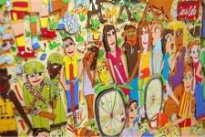 Farbenfroh und fröhlich geht es zu in den Werken des Künstlers James Rizzi. Bild: Kreis Düren