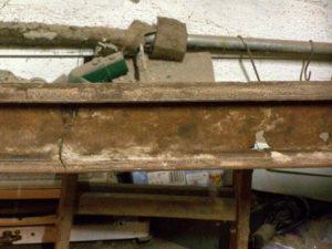 Schaden Stahlträger