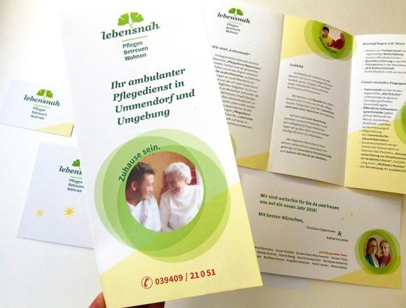 Lebensnah_Pflegedienst_corporate design flyer