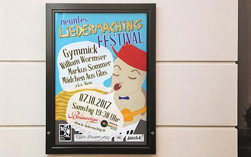 Liedermaching Braunschweig Plakat