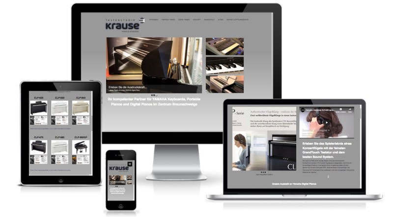 Tastenstudio Krause Website Webdesign