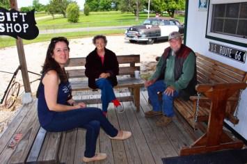 Austausch mit Gary Turner und Frau (+2015) - einem Pionier der Route 66 (USA) Foto: Urlaubsengel