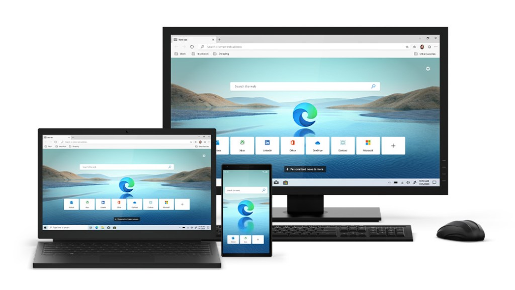 Microsoft's new browser is based on Google's Chromium system.