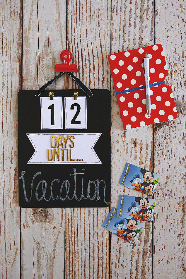 vacation countdown chalkboard