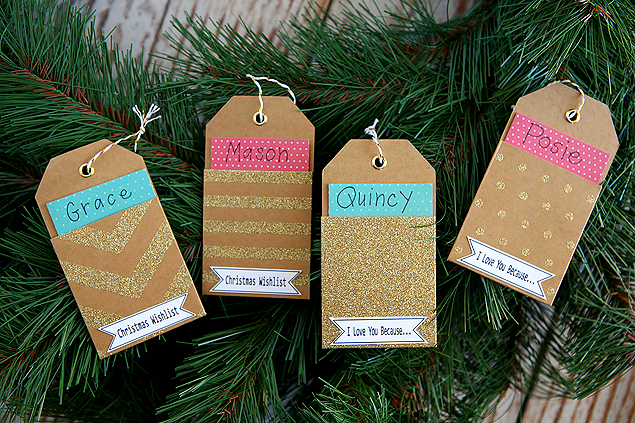 Christmas wishlist ornaments