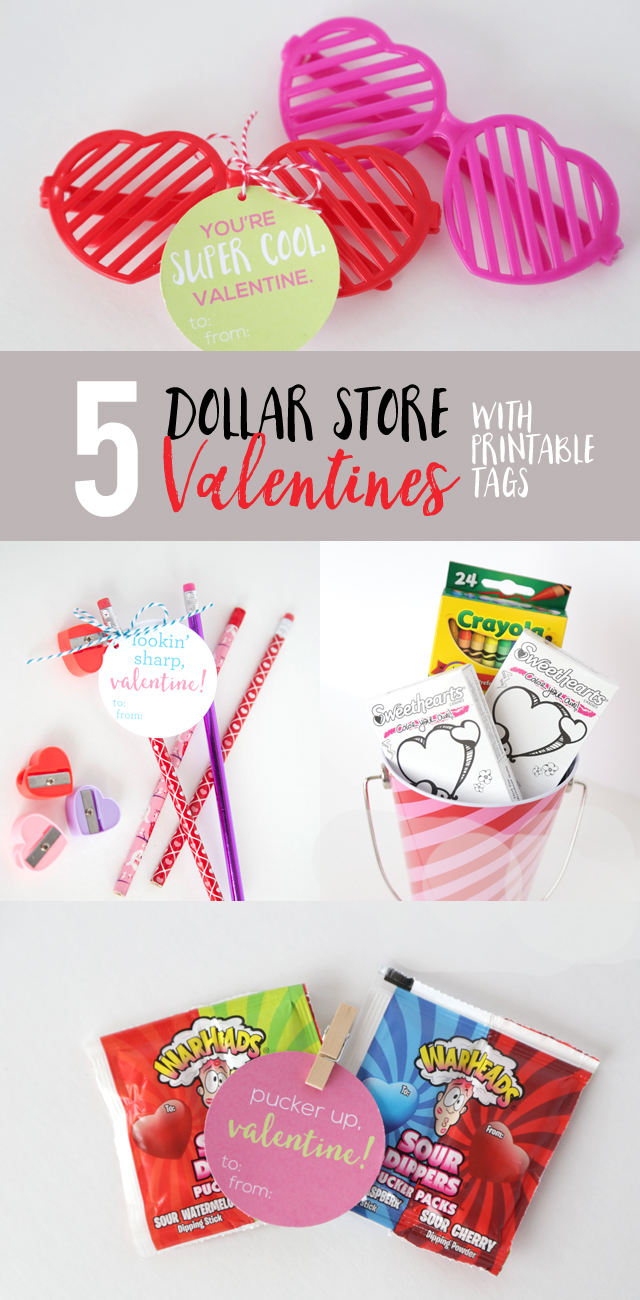 Dollar Store Valentines With Printable Tags Eighteen25