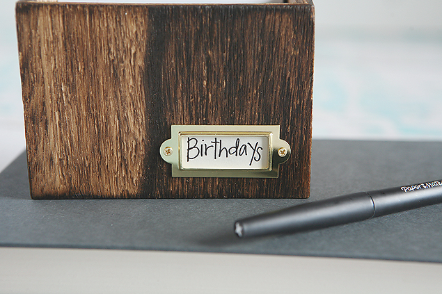 Recipe Box Birthday Calendar | Birthday Reminder