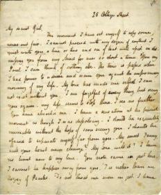 Keats to Brawne 1819
