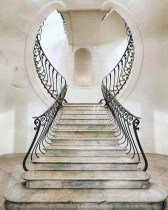 I am always inspired by architectural gems like this beautiful staircase