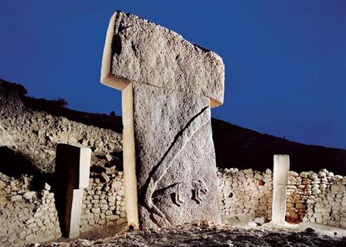 A pillar at the Gobekli Tepe temple