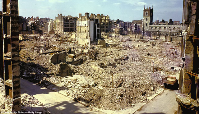 The London Blitz in colour
