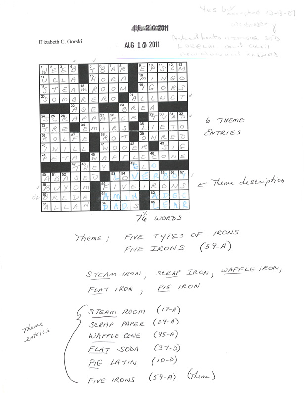 Shortz crossword sample