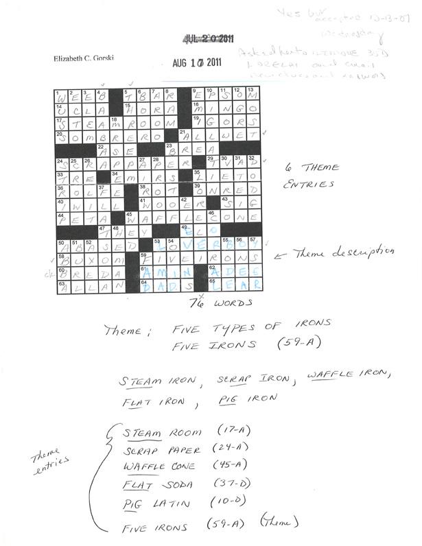 Shortz crossword sample