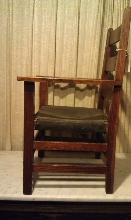 vintage kitchen chairs espresso shaker cabinets original gustav stickley child's armchair