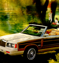 1986chryslertown country 1986 chrysler town country convertible from the lebaron  [ 1759 x 864 Pixel ]