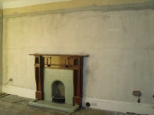 Remember the walls pre-plastering?