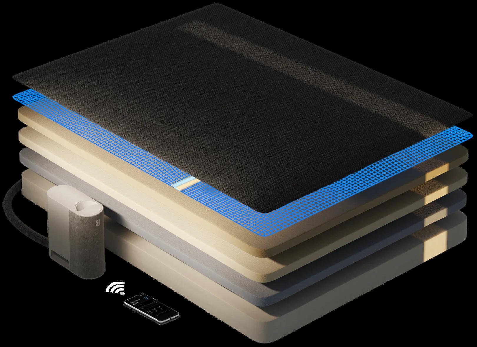Pod Eight Sleep Smart Cooling Mattress Bed