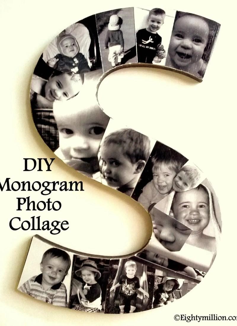 DIY Monogram Photo Collage