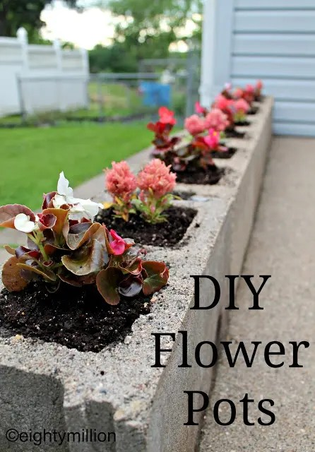 Quick and Easy DIY Flower Pots Using Cement Bricks