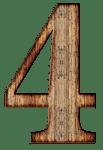 木材、数字の4、イラスト - 函館英会話教室EigoLa - キッズ英会話