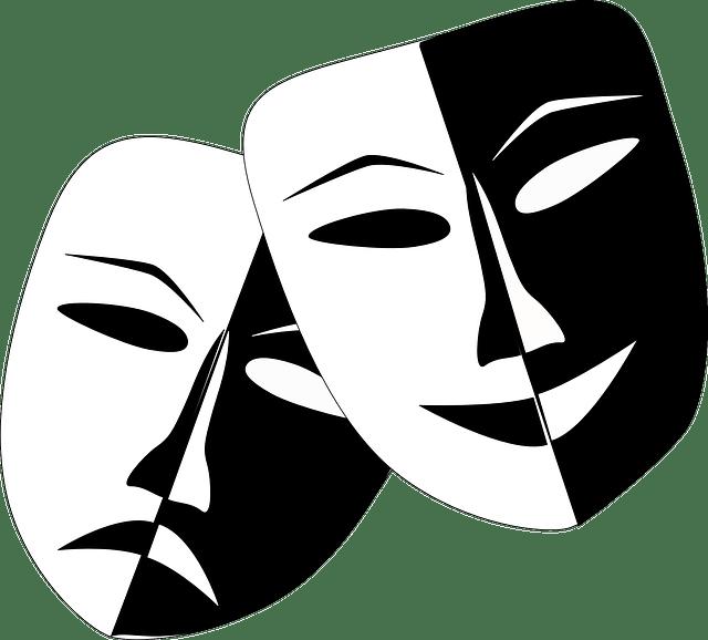 演技を象徴する仮面