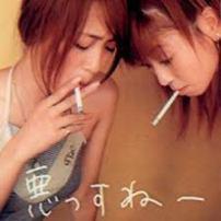 片瀬那奈の喫煙プリクラ