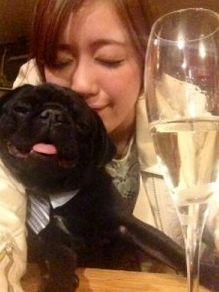 夏目鈴と犬の写真