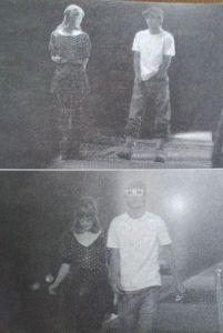 錦戸亮と藤井リナの報道写真