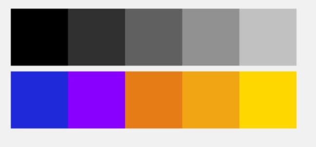 色彩のコントラスト
