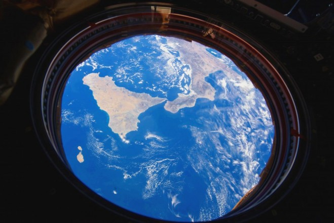 Southern Italy and Sicily from Space Station  Earth