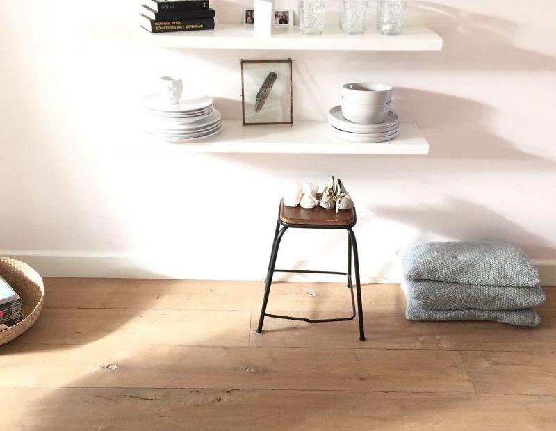 Eiken houten vloer open noesten lamelparket