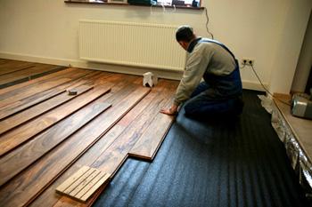 leggen houten vloer