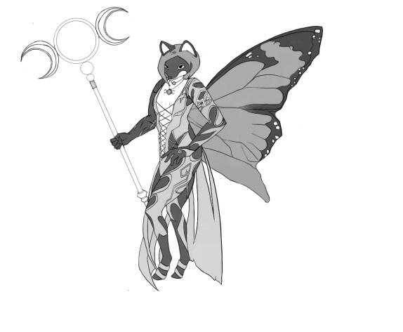 蝶の羽ファンタジーアバター gray04(1)