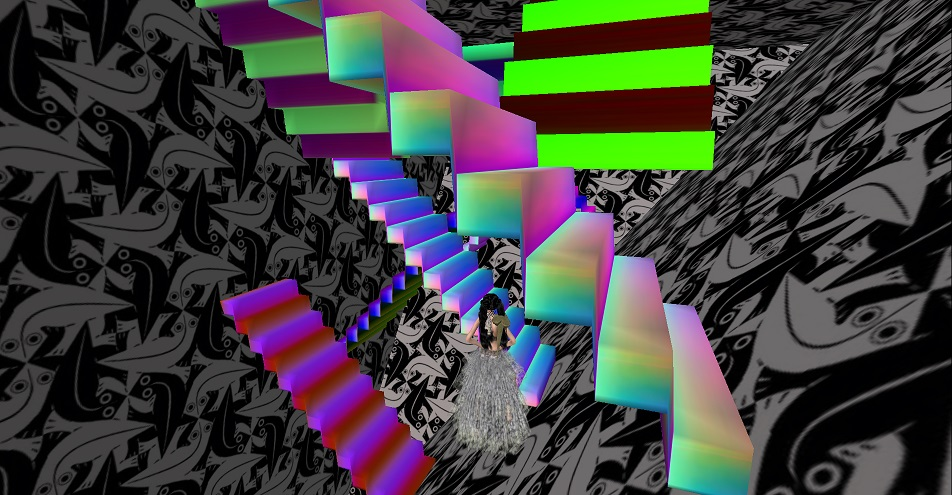 Larre's Funhouse - rainbow stairs.jpg