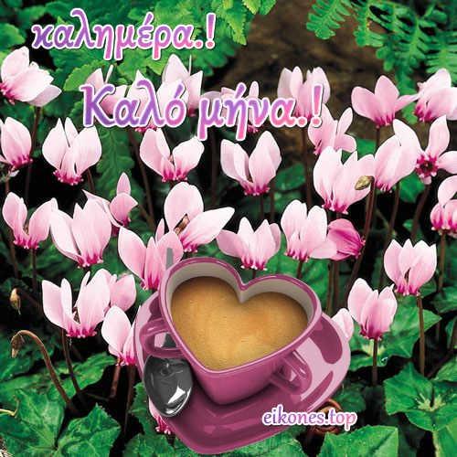 Ευχετήριες κάρτες για καλημέρα & καλό μήνα με eikones.top