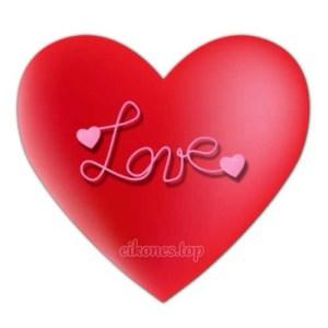 Καρδιές για Love και I love You σε Κόκκινες αποχρώσεις