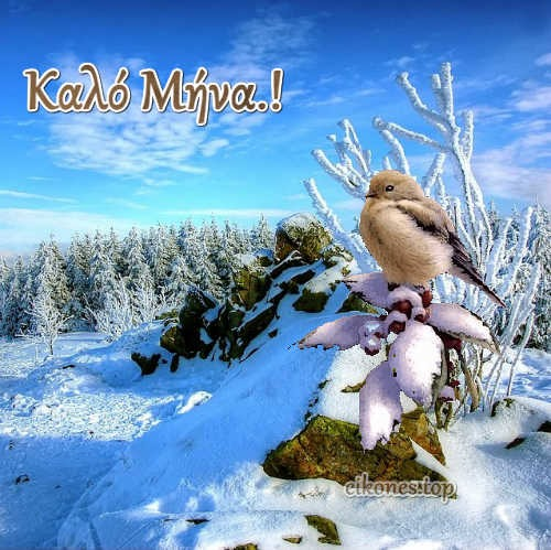Χειμωνιάτικες Εικόνες Για Καλό Μήνα!