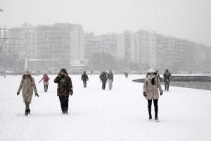 Χιόνια στην Θεσσαλονίκη(φωτό)