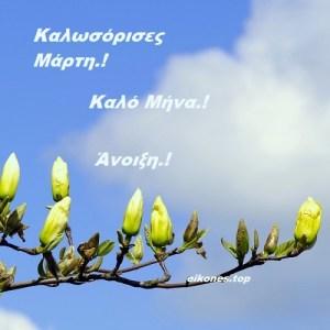 Καλωσόρισες Μάρτη.! Καλή Άνοιξη σε όλους.!